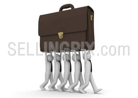 Businessmen carrying briefcase – Concepts collection