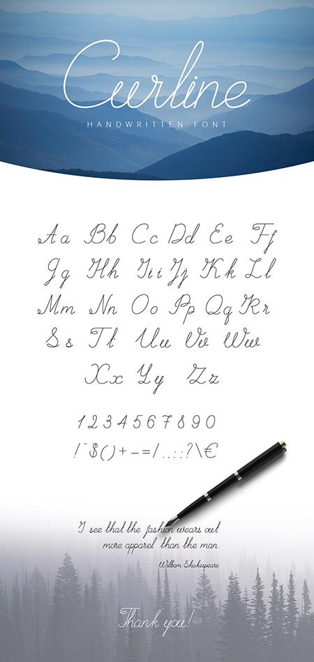 Curline Handwritten Script
