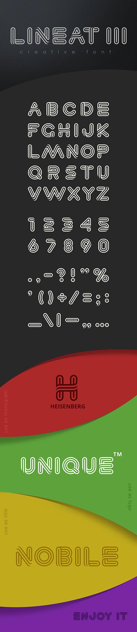 Lineat III font