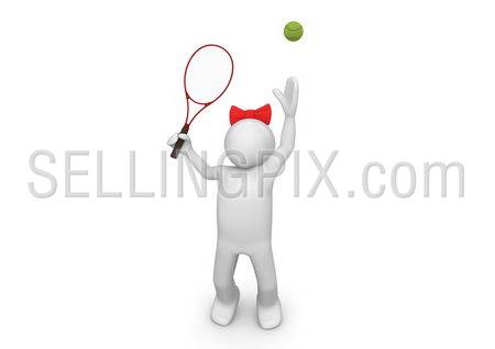 Tennis player girl serving the ball. Sports collection.