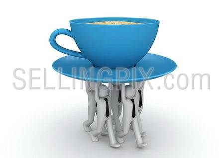 Businessmen carrying cup of coffee. Coffee-break concept. Business collection.