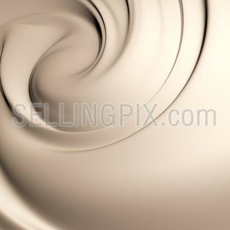 Astonishing creamy swirl. Clean, detailed render.