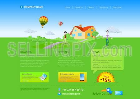 Website template: Healthlife, Countryside, Realty etc.Resizeble Web design – can be adopted for any monitor resolution.