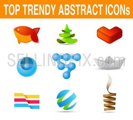 Business set of icons. Vector. New age of designCan be used as logo template