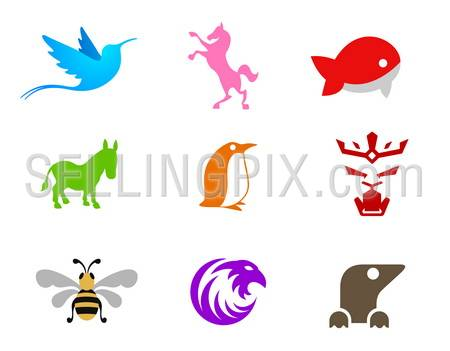 Business set of logo templates. Vector. Icons for any type of company.