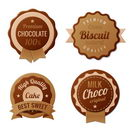 Chocolate Vintage Labels such a logo template collection.  Choco Luxury Retro design. Extra High quality Vintage. Vector.
